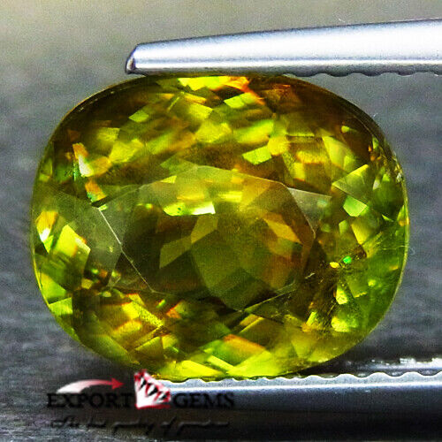 UNHEATED 3.38CT NATURAL YELLOW OVAL SPHENE