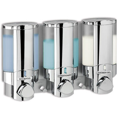 AVIVA 3-FACH chrom Hygienespender + Seifenspender Wandmontage