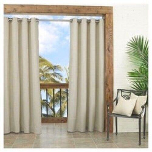 Key Largo Single Curtain Panel, 52 W x 84 L, Oatmeal