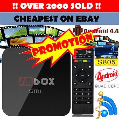 2017 4K SM PRO Quad Core Android Smart TV Box Media Player NEW Sports Movies UK