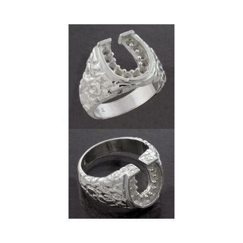 mens sterling silver horseshoe ring ebay