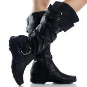 Womens Faux Leather Boots