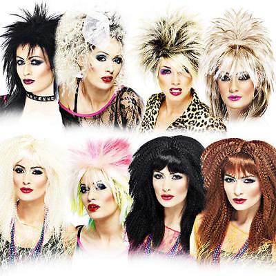 1980s Celebrity Punk Wigs Ladies Fancy Dress 80s Womens Eighties Costume Wig New (Eighties Costumes)