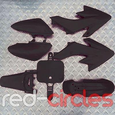 BLACK CRF50 STYLE PIT BIKE PLASTIC SET - NO SEAT 50cc 110cc 125cc PITBIKE
