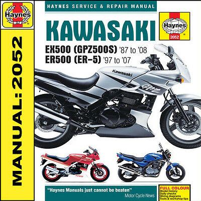 KAWASAKI ER5 EX500 GPZ500S 1987-2008 Haynes Manual NEW