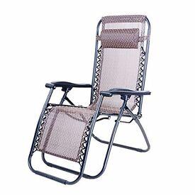 4x Outdoor Foldable Sun Lounger Chair