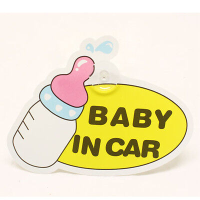 FUN CUTE BOTTLE BABY IN CAR BABY CHILD ON BOARD SIGN CAR WINDOW SIGN - BOY GIRL