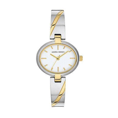 Damen Uhr Armbanduhr Material Titan Titanium Adora bicolor 3 atm