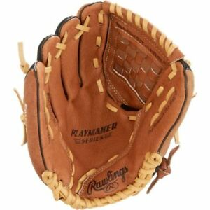 Left Handed Rawlings Baseball Glove With Ball - Great Condition!