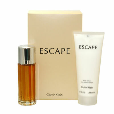 Escape by Calvin Klein 2pc Set for Women 3.4 oz EDP Perfume + 6.7 oz Body Lotion
