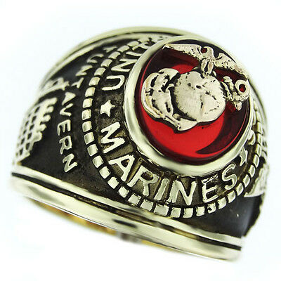 Marines Seal US Military Gold Plated Mens Ring  Seal Mens Ring