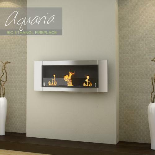 Stainless steel fireplace ebay for Denatured ethanol fireplace