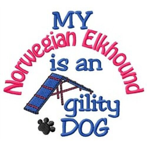 My Norwegian Elkhound is An Agility Dog Short-Sleeved Tee - DC1812L