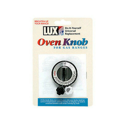 Lux CPR407 Universal Replacement Oven Knob, Black