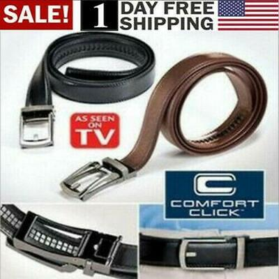 BRAND NEW - Men's Adjustable Leather Belt Xmas Clothing Gift Deal Belt Clothing Brands