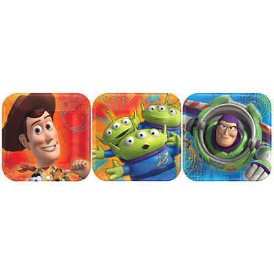 TOY STORY Power Up SMALL PAPER PLATES (8) ~ Birthday Party Supplies Dessert - Toy Story Paper