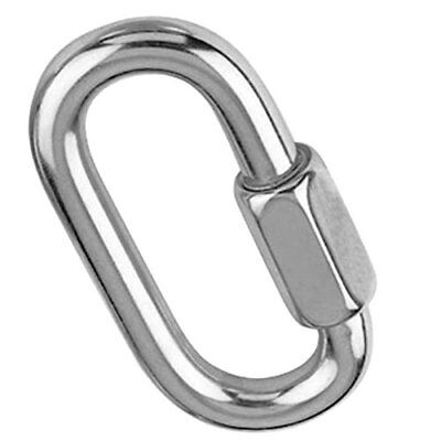 Stainless Steel 316 Quick Link Chain Rope Cable Strap Connector Rigging Stainless Steel Quick Link