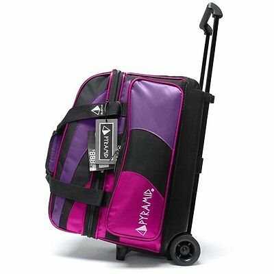 Bowling Ball Bag Pyramid Path Deluxe Double Roller Bowling Bag Hot Pink / Purple