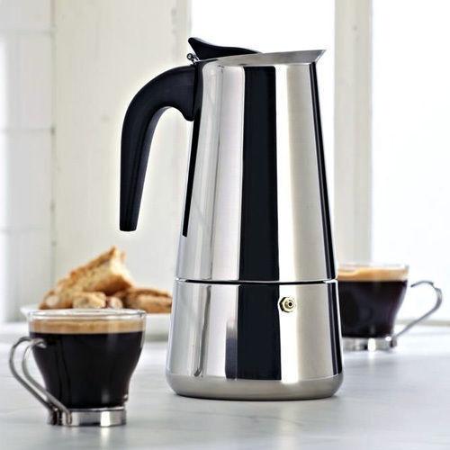 300ml edelstahl espressomaschine herd top kaffeemaschine 6 tassen ebay. Black Bedroom Furniture Sets. Home Design Ideas