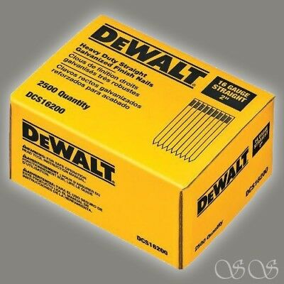 Dewalt Dcs16200 2-inch By 16 Gauge Finish Nail 2500 Per Box