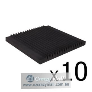 10x Studio Acoustic Foam Tile 16 Teeth Wedge 50x50x5cm