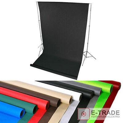Hintergrund 1.6m x 5m Lang ! mit Pappröhre FOTOHINTERGRUND Studio Backgrounds