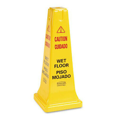 Rubbermaid 25-58 4-sided Cautionwet Floor Safety Cone 627777 New
