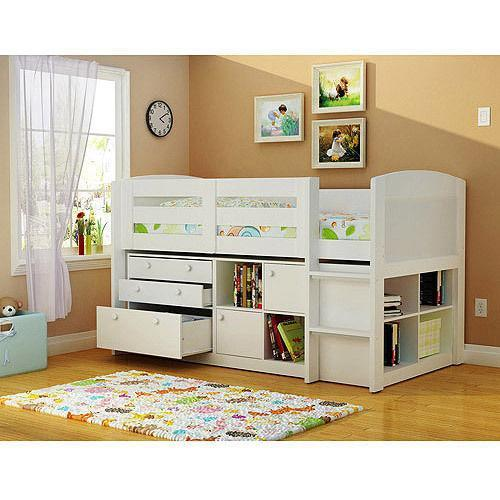 Details About White 3 Piece Storage Drawers Twin Bed Box: Kids White Bedroom Furniture