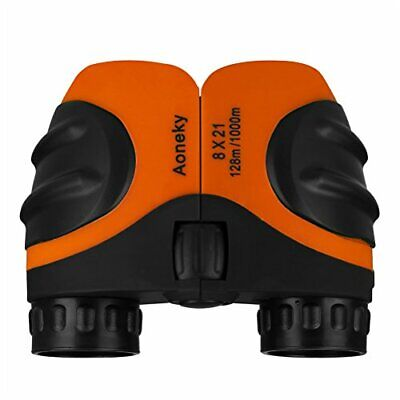 Aoneky Compact Mini Rubber 8 x 21 Kids Binoculars for Bird Watching, Best