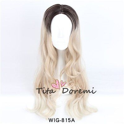 Halloween Lolita Brown Mix Lange Curly Party Fashion Cosplay Wig Heat Resistant