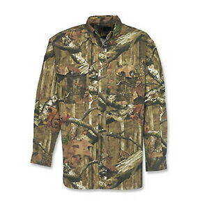 Browning Wasatch Camouflage Shirt Button Up Mossy Oak Infinity