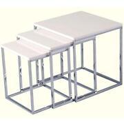 White Gloss Nest Tables