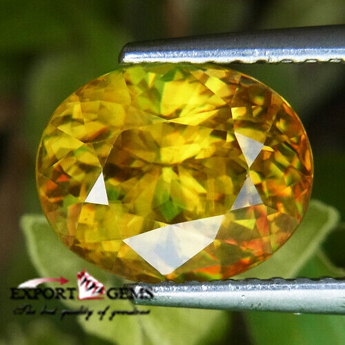 UNHEATED 3.71CT NATURAL OVAL YELLOW SPHENE