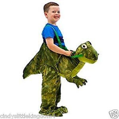 Dinosaurier T Rex Dino Kostüm Kleid Outfit Verkleidung Unisex: Kinder Riding (Kind Grün T Rex Kostüm)