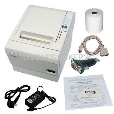 Epson Kassendrucker Bondrucker TMT TM-T 88 III seriell mit USB Adapter Thermo