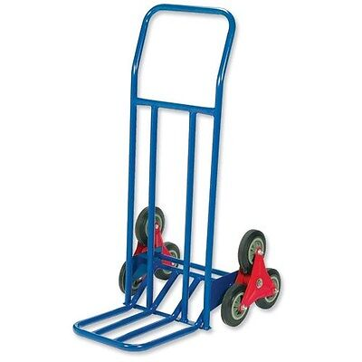 Stair Climbing Sack Truck - 75kg Capacity - Steel Framed - Blue