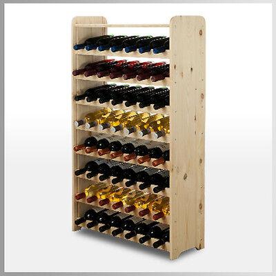 Rw-3 Farbe (Weinregal Flaschenregal Weinschrank* 56 Flaschen Holz Kiefer RW-3-56P / 3 FARBEN)