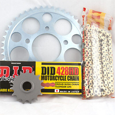 <em>YAMAHA</em> DT125 X 2006 DID GOLD HEAVY DUTY CHAIN AND SPROCKET KIT