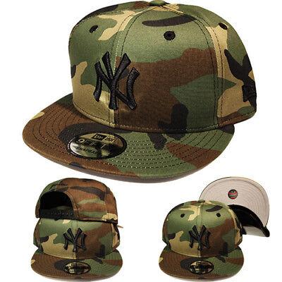 New Era MLB New york Yankees 9Fifty Snapback Hat Green Camouflage Camo Cap