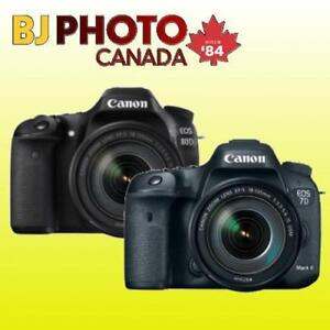 BRAND NEW! CANON 7D / 80D / 5D AND MORE - KITS AVAILABLE WITH FULL WARRANTY