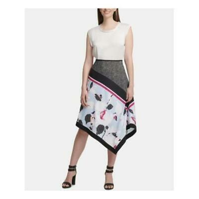 DKNY Women's Blue Floral Printed Skirt Size: 2