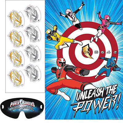 POWER RANGERS Ninja Steel PARTY GAME POSTER ~ Birthday Supplies Decorations Blue - Power Rangers Party Decorations