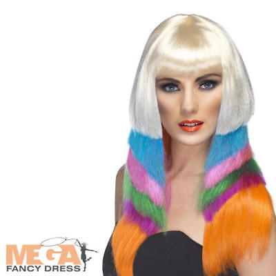 Neon Starlet Ladies Wig Ladies Nicky Minaj Celeb Fancy Dress Costume Accessory