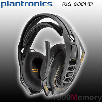 Plantronics RIG 800HD Wireless Gaming Headset Over Ear 2.4GHz RF for PC