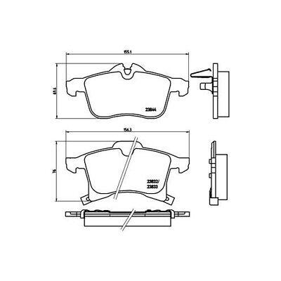 1 Bremsbelagsatz, Scheibenbremse BREMBO P 59 045X BREMBO XTRA LINE passend für