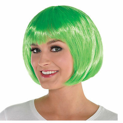 NWT Sexy Lime Green Bob Wig Cosplay Adult  Accessory Halloween Costume ()
