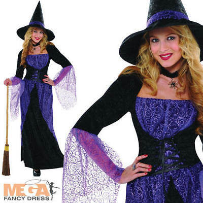 Pretty Potion Witch Ladies Fancy Dress Witches Adults Halloween Costume Outfit  - Pretty Woman Halloween Outfit
