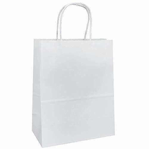 100 Pcs Wholesale White Kraft Paper Shopping Bags Gift Retai