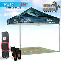 Tents , banners, flags ,table tops branded with your sports team