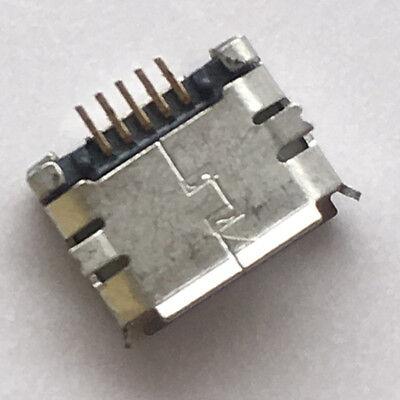 LADEBUCHSE MICRO USB TYPE B FEMALE SOCKET 180 DEGREE 5 PIN SMD SMT